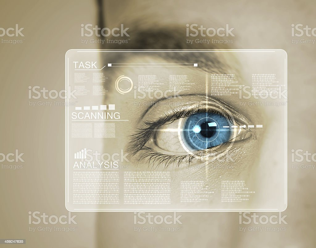 Identification of eye stock photo