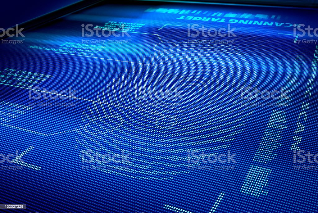 identification system interface stock photo