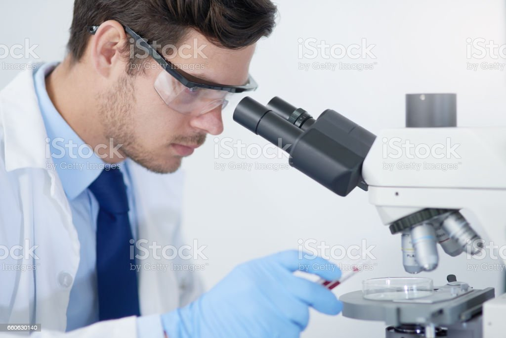 Identifying microorganisms that are causing infection stock photo