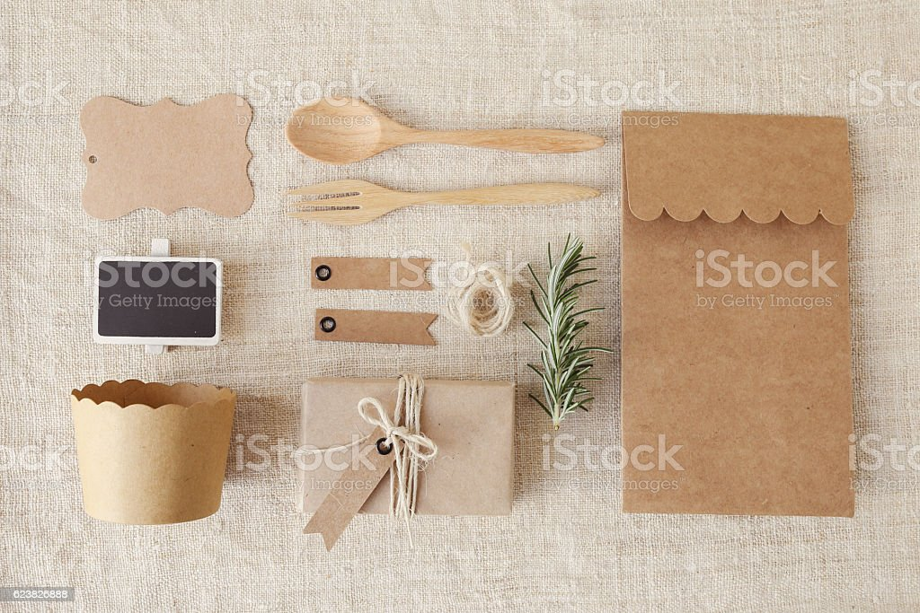 Identity branding mockup set. eco concept stock photo