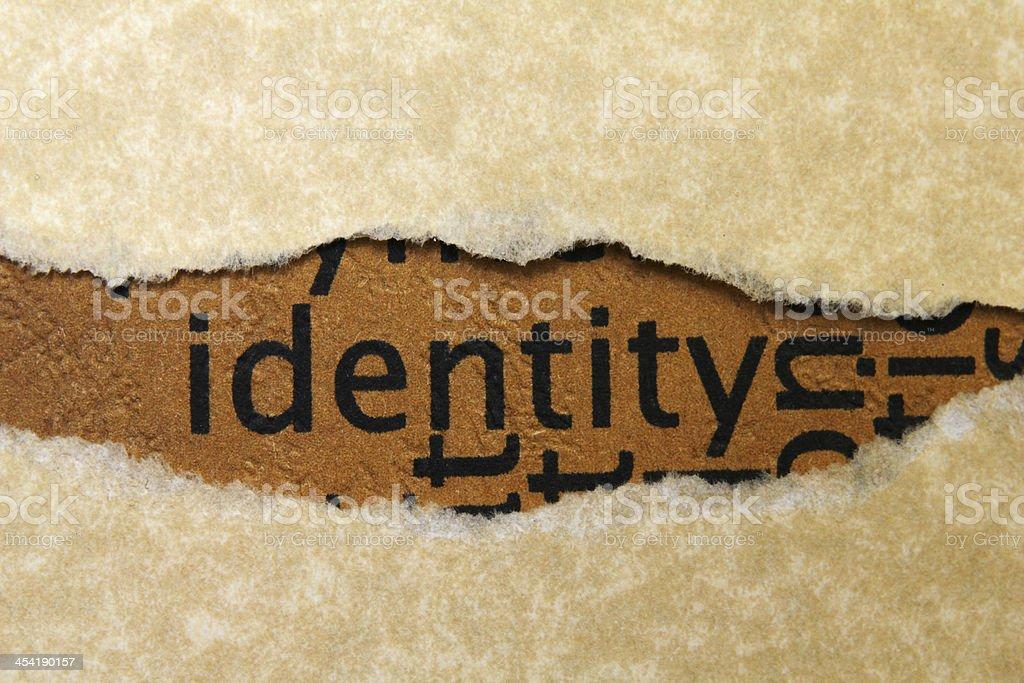 Identity concept stock photo
