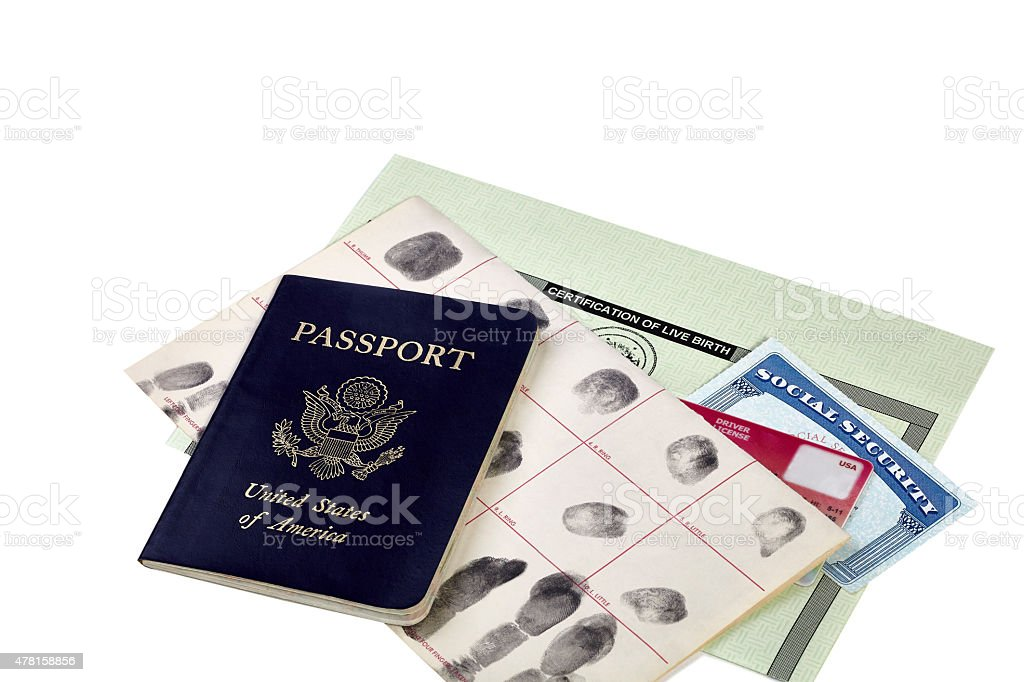 Identity Documents stock photo