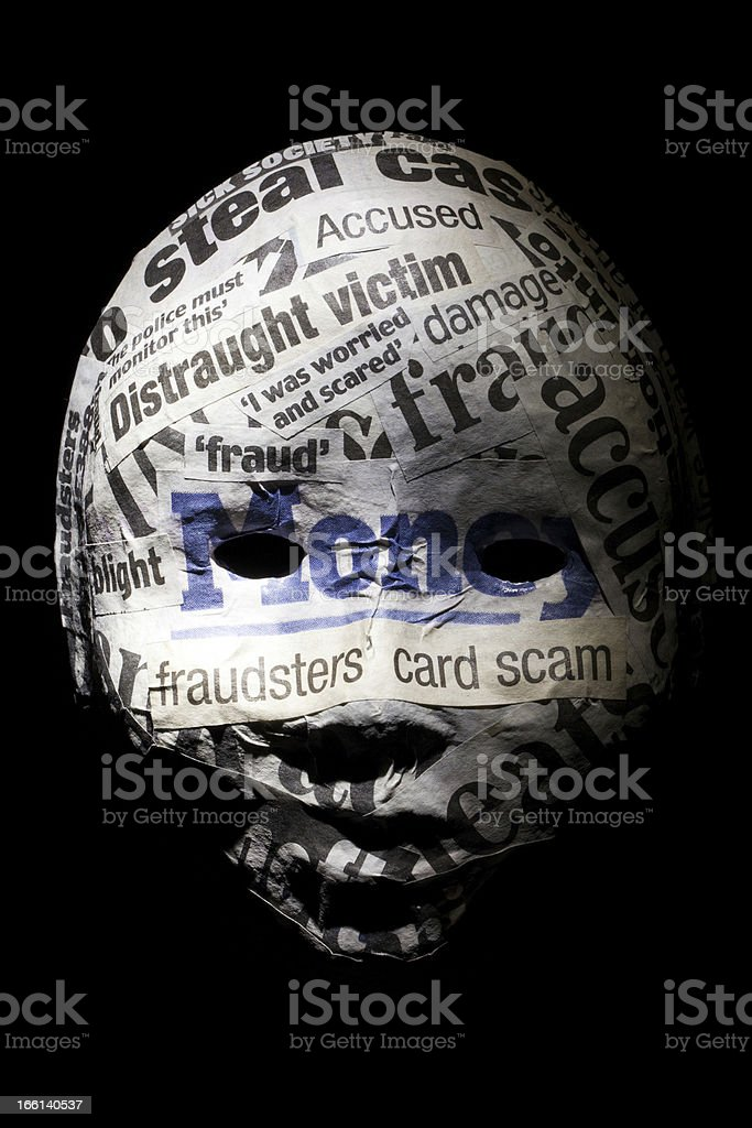 Identity fraud concept mask royalty-free stock photo
