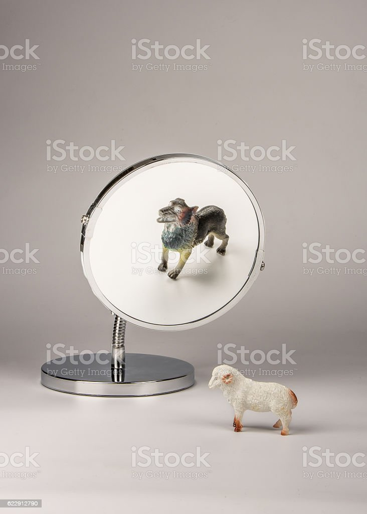 Identity mismatch stock photo