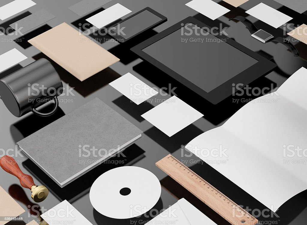 Identity template stock photo