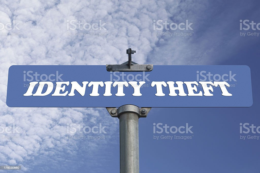 Identity theft road sign royalty-free stock photo