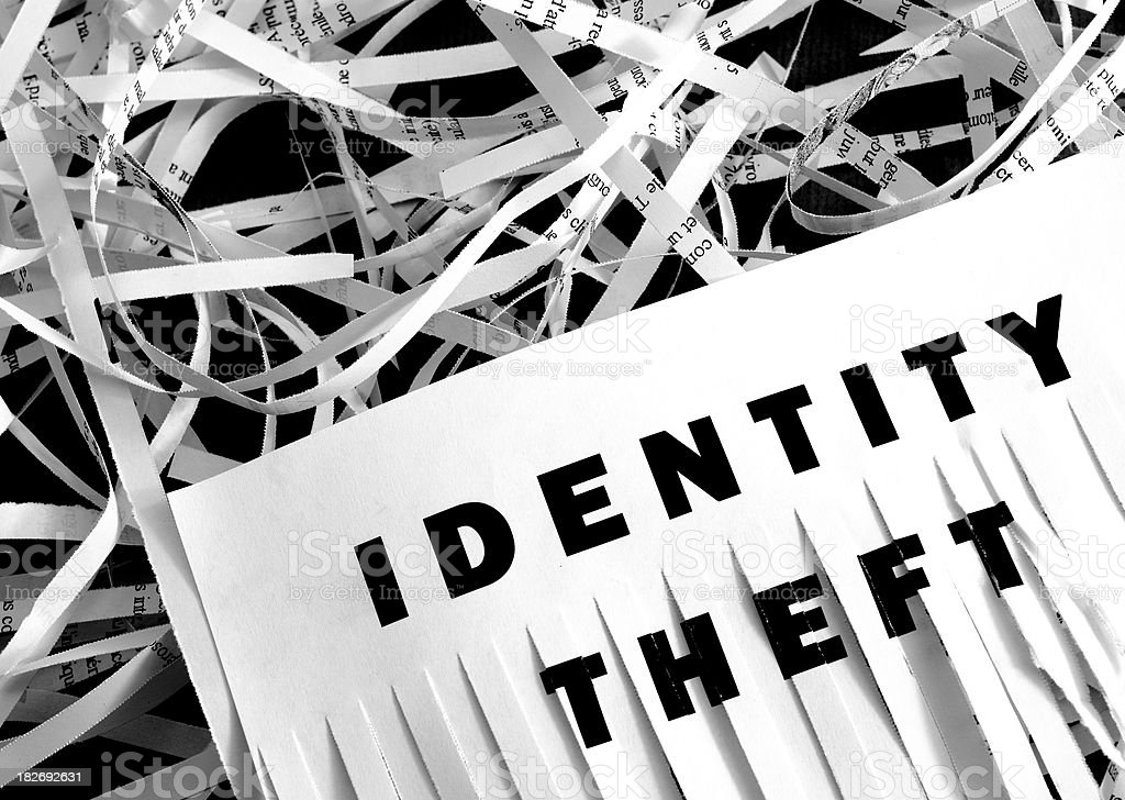 Identity Theft - Shredding stock photo
