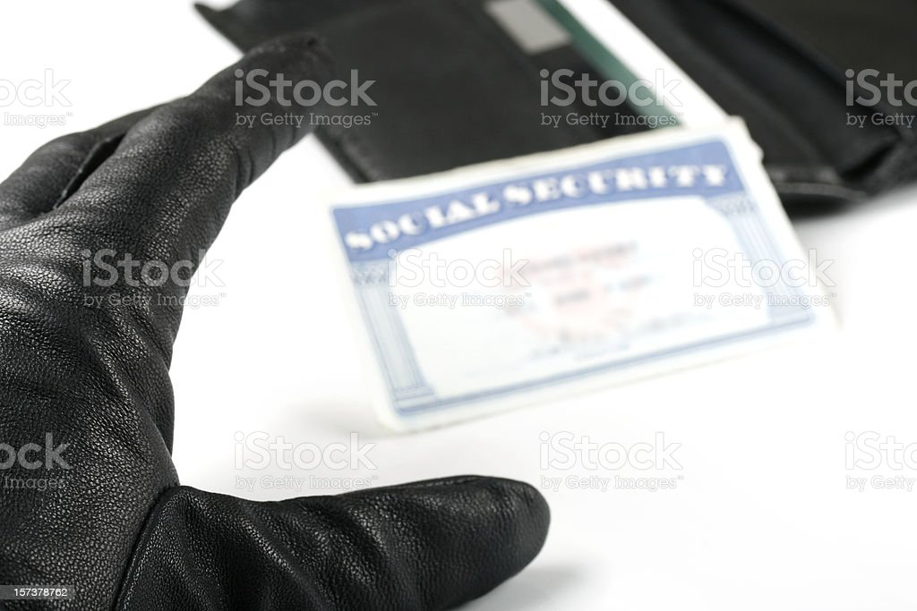 Identity Theft Social Security Card royalty-free stock photo