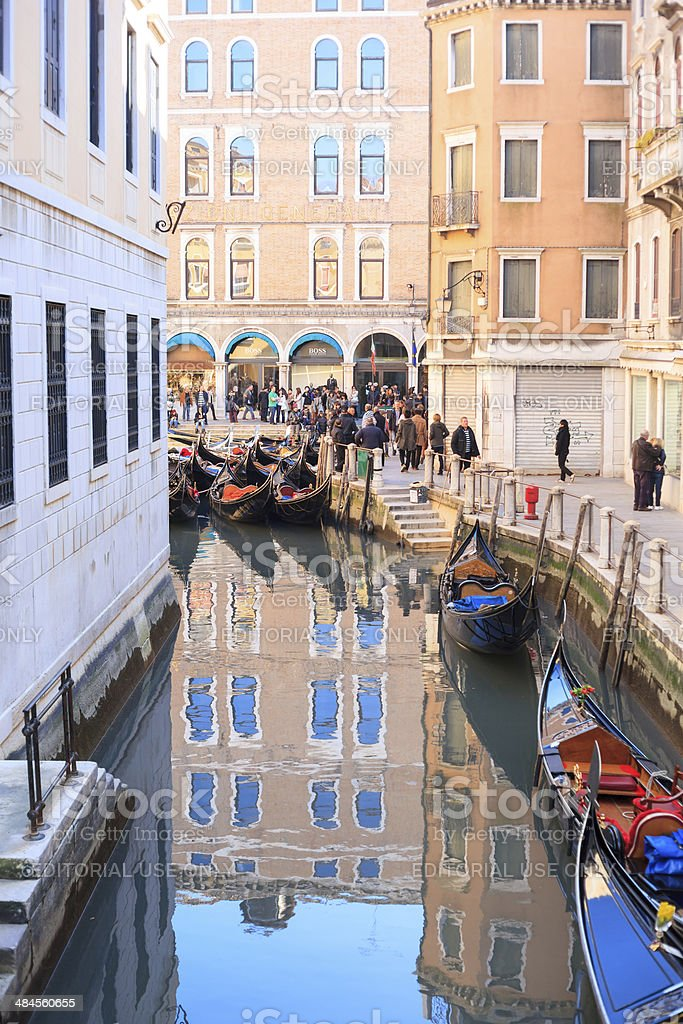 Idle Gondolas royalty-free stock photo