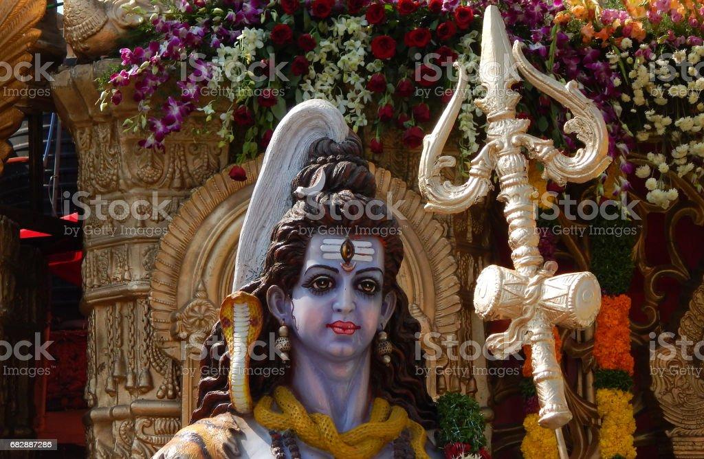 Idol of Hindu God Shiva stock photo