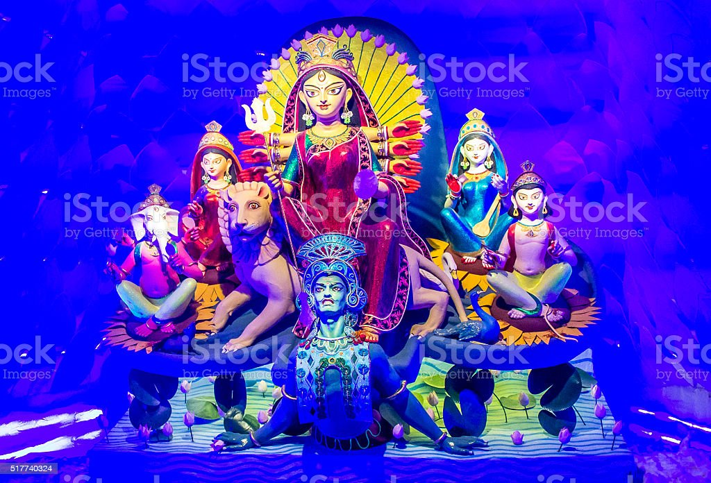 Idol Of Ma Durga stock photo