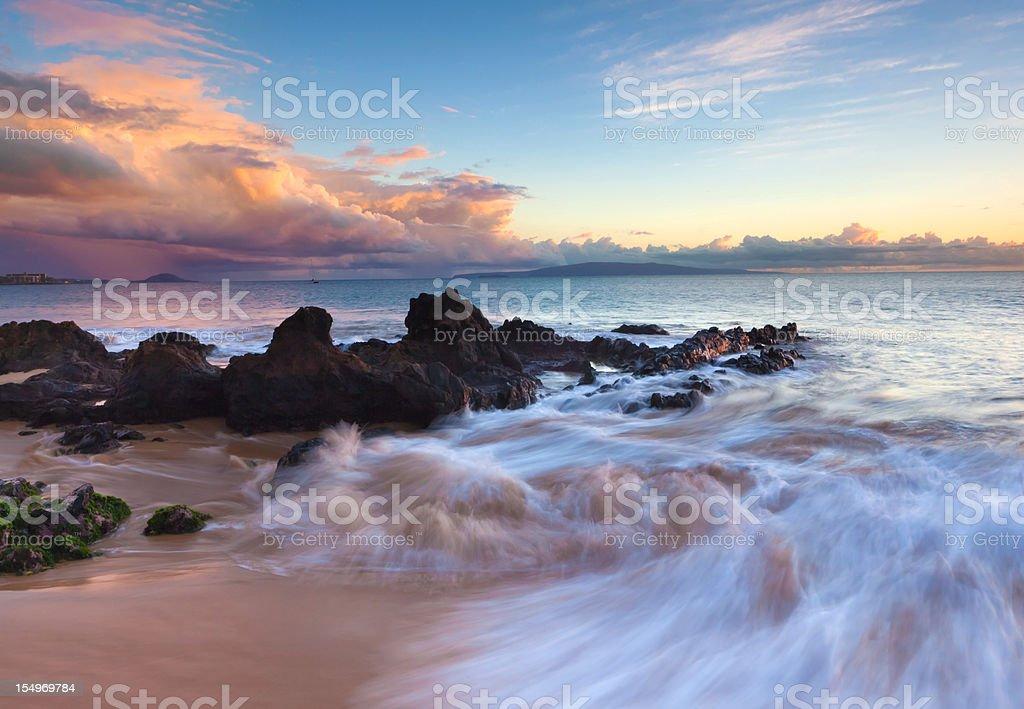 idylic maui coastline - hawaii, pacific ocean royalty-free stock photo