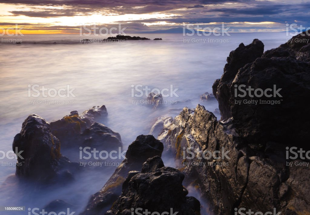 idylic maui coastline - hawaii royalty-free stock photo