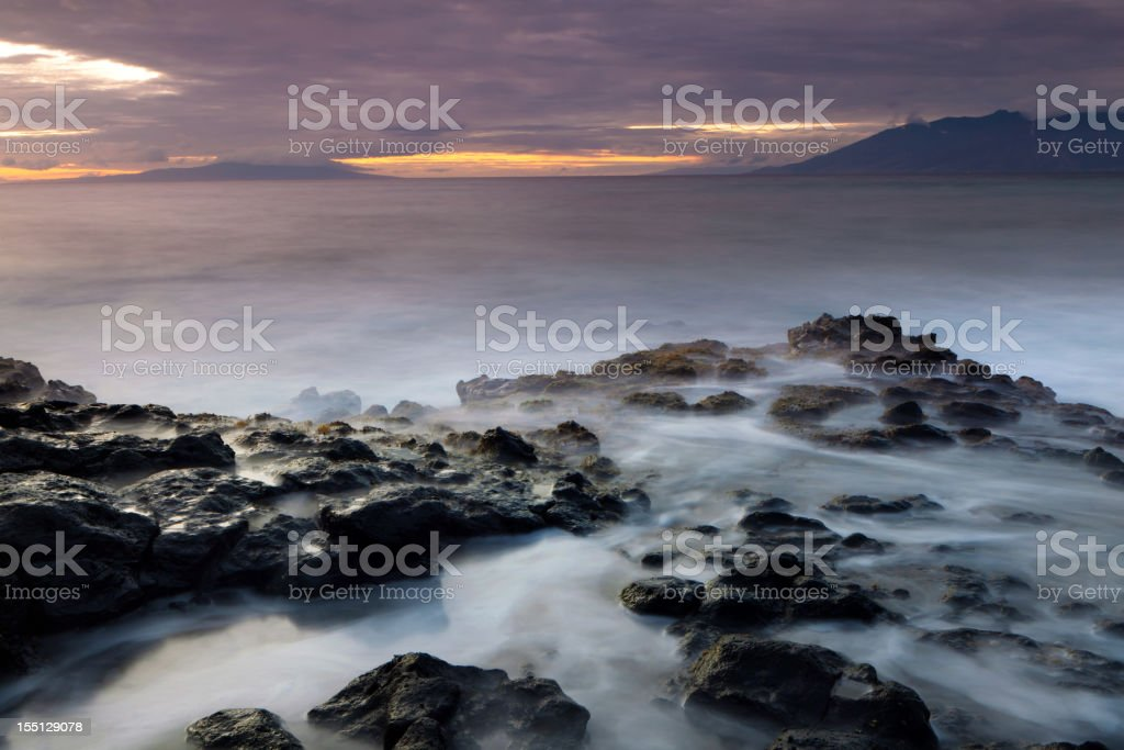 idylic maui coastline - hawaii royalty-free stock photo