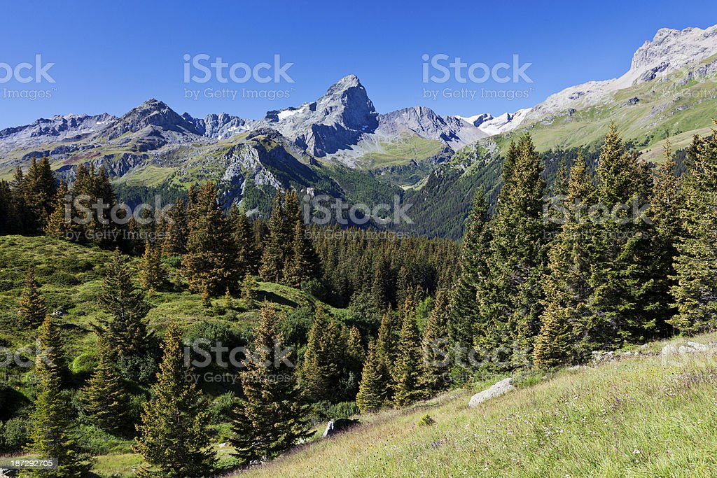 Idyllic Alpine Landscape stock photo