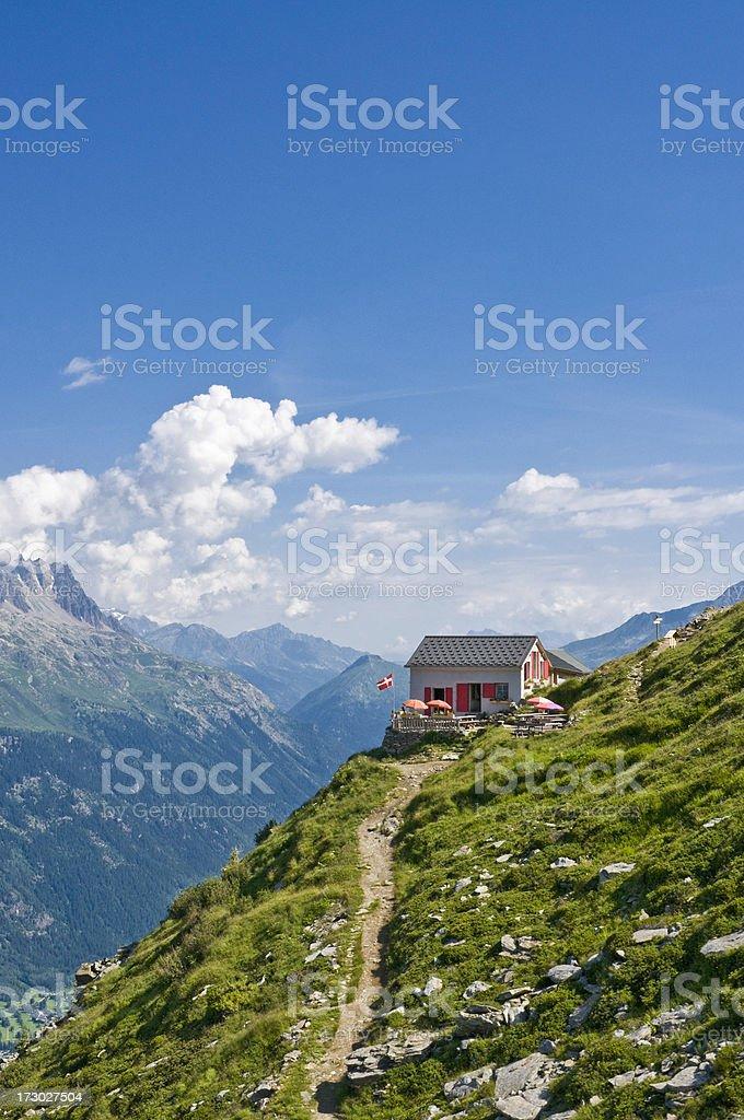 Idyllic Alpine refuge royalty-free stock photo