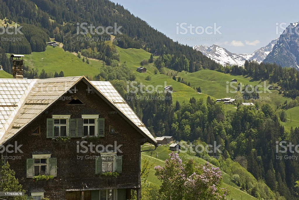 Idyllic Alpine Village stock photo