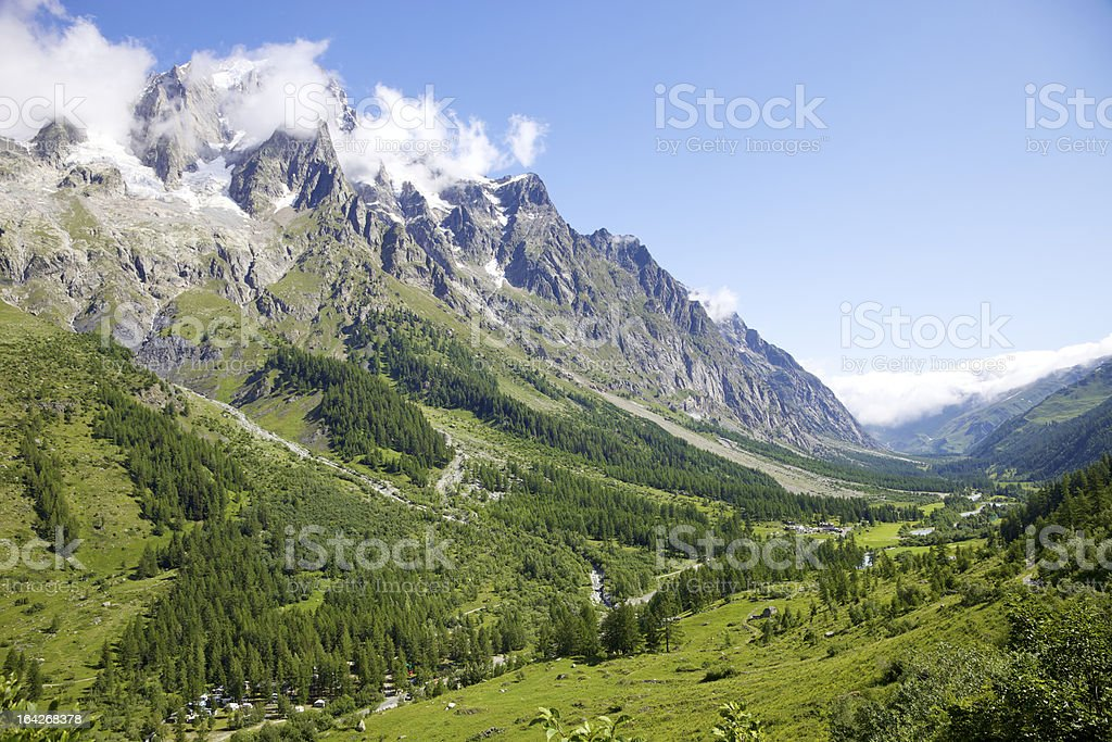 Idyllic Alps Valley royalty-free stock photo