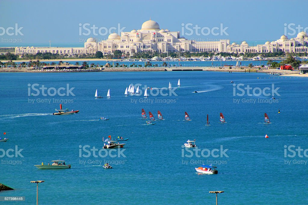 Idyllic Arabian coast stock photo
