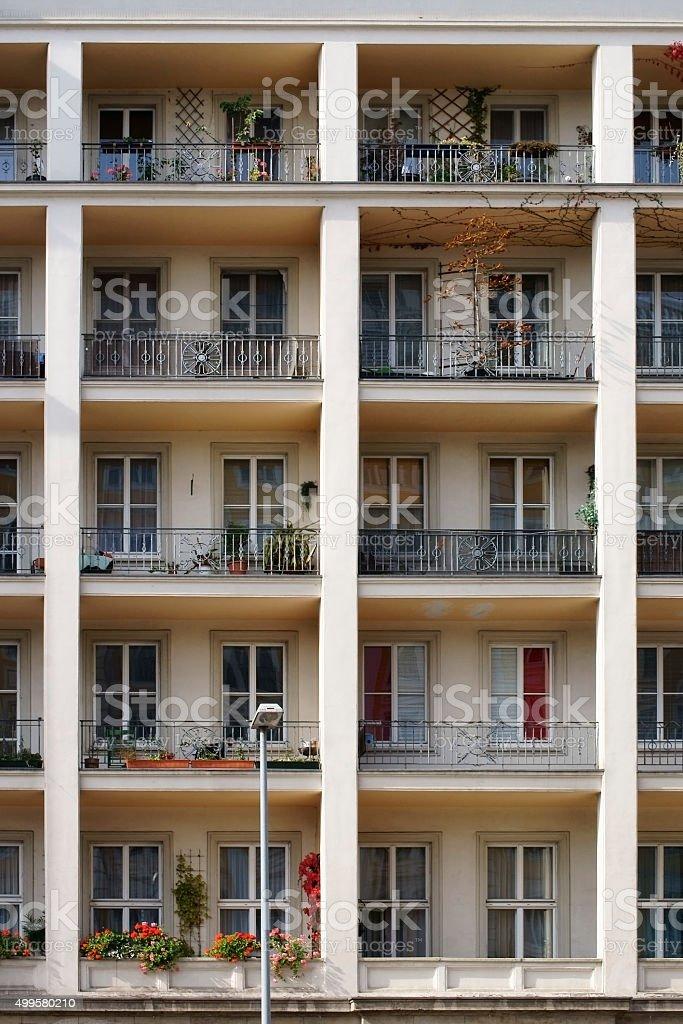 Idyllic balcony stock photo