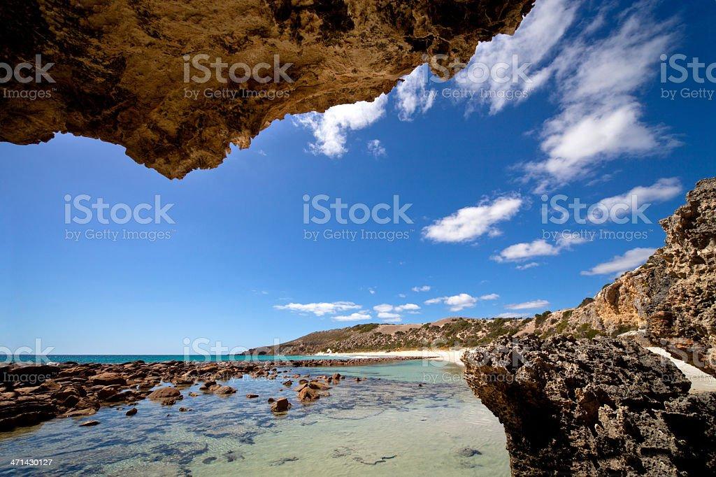 Idyllic Bay in Australia stock photo