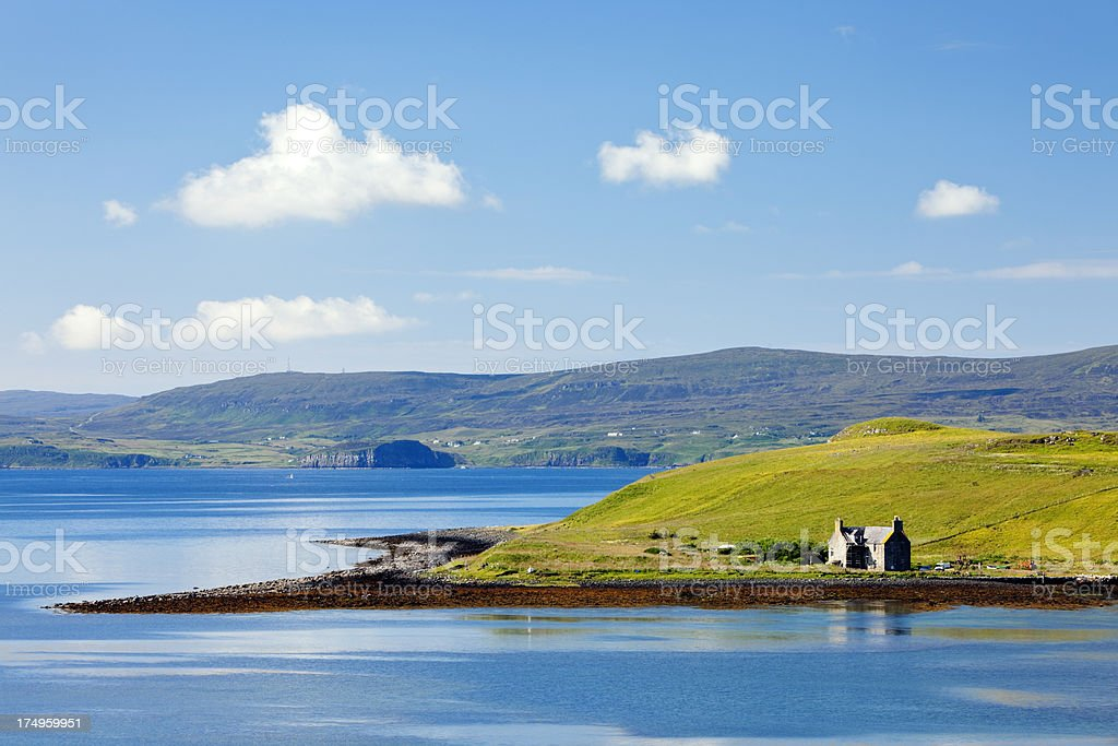 Idyllic Bay in Scotland, United Kingdom stock photo