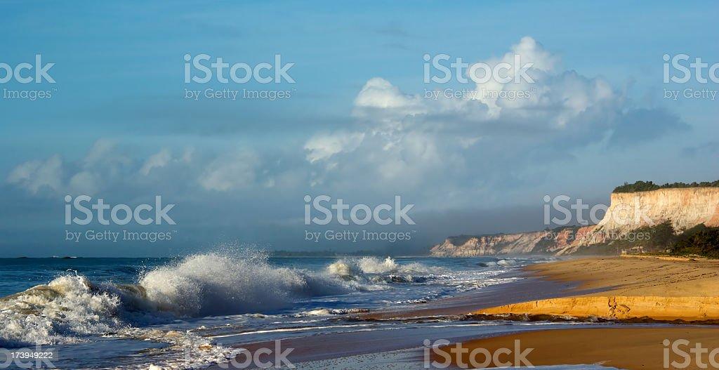 Idyllic beach, Bahia, Brazil stock photo