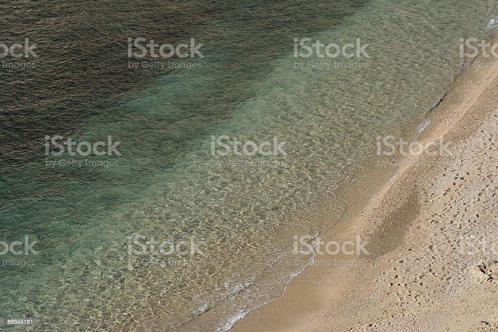Idyllic beach in France, near Nice. royalty-free stock photo