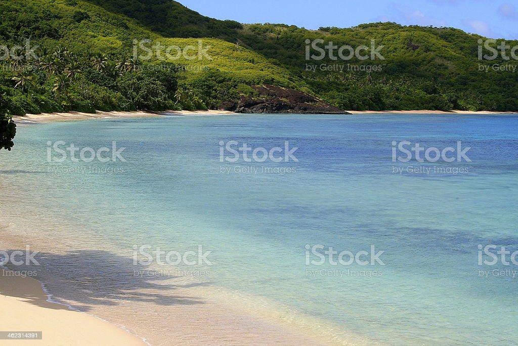 Idyllic beach in Yasawa Islands stock photo