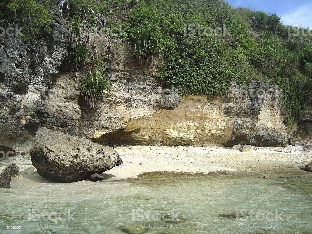 Idyllic beach, Nusa Ceningan, Indonesia royalty-free stock photo