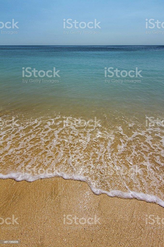 Idyllic beach on Bali royalty-free stock photo