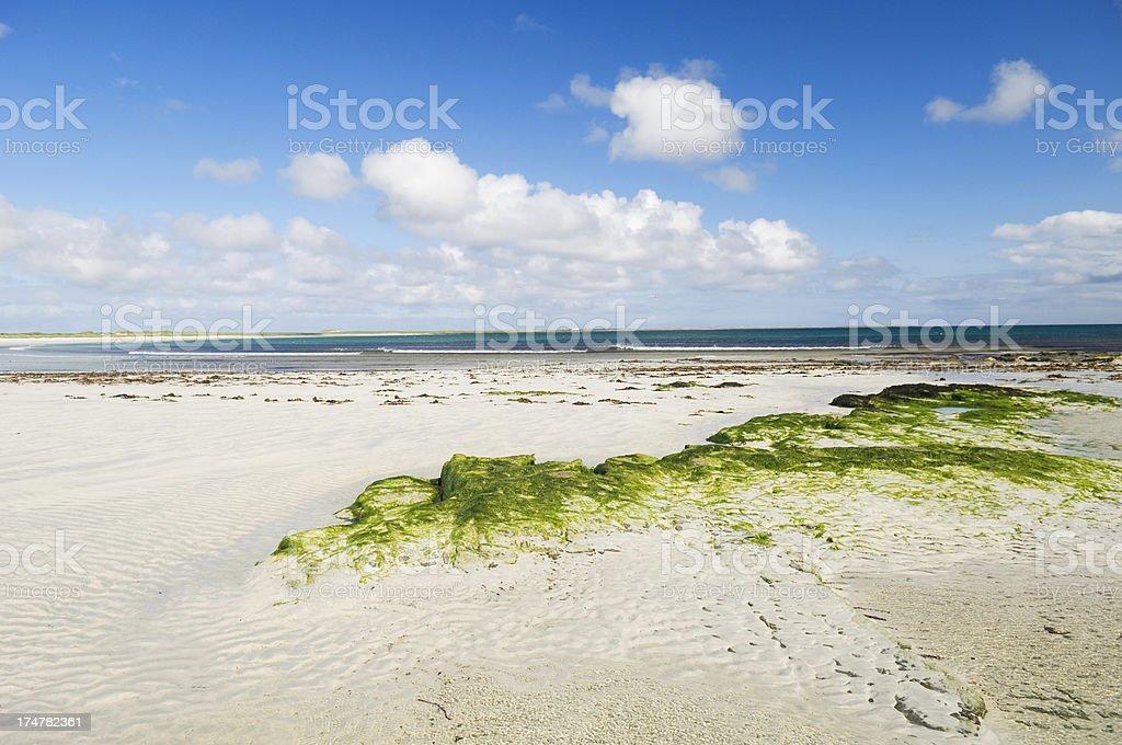 Idyllic beach on Sanday royalty-free stock photo