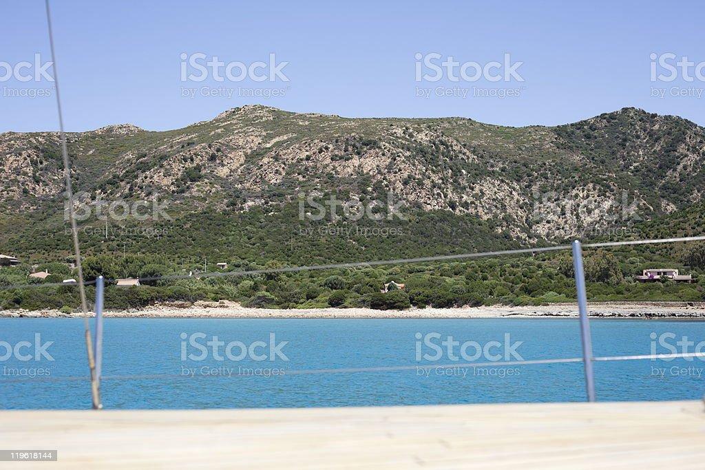 Idyllic beach. royalty-free stock photo