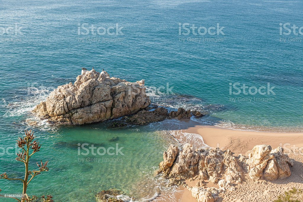 Idyllic beach stock photo