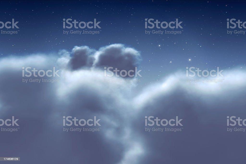 Idyllic Clouds with stars stock photo