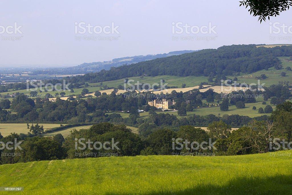 Idyllic Cotswold countryside near Winchcombe, Gloucestershire, UK. stock photo