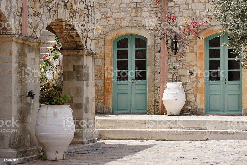 Idyllic Courtyard stock photo