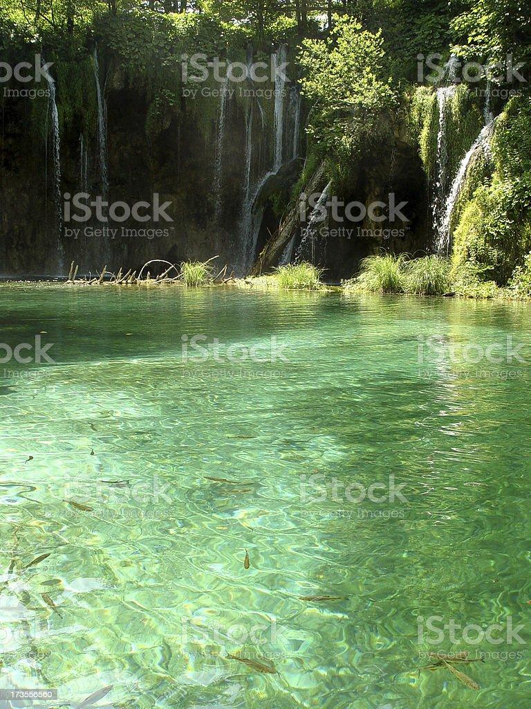Idyllic crystalclear Loch stock photo