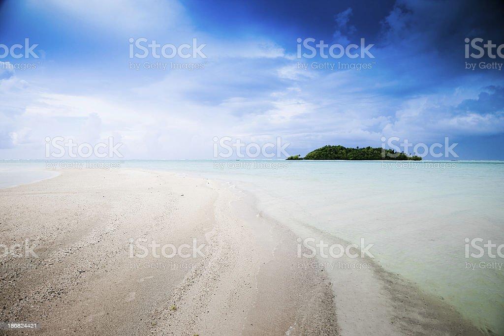 Idyllic Dream Tropical Island South Pacific royalty-free stock photo