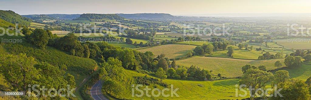Idyllic farmland stock photo