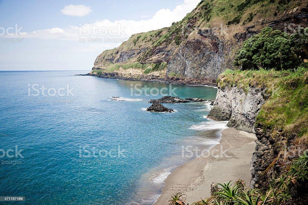 Idyllic Hidden Beach stock photo