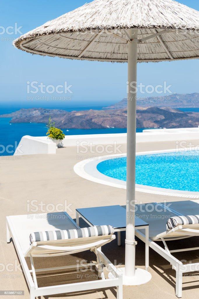 Idyllic holidays & volcano & Santorini stock photo