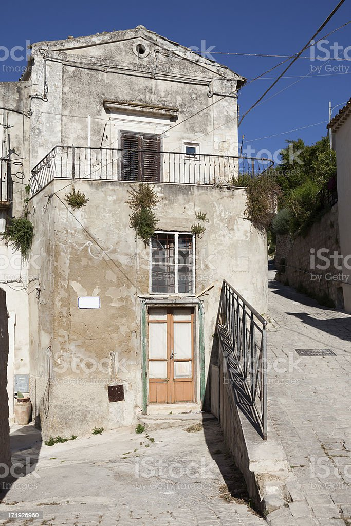 Idyllic home in Scicli, Sicily  Italy royalty-free stock photo