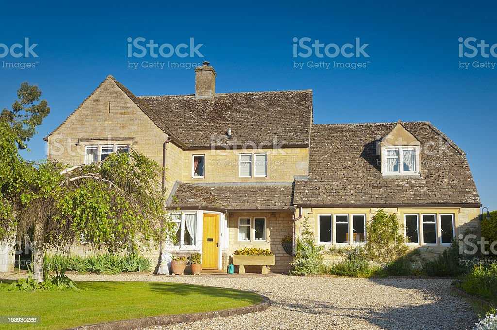 Idyllic home stock photo