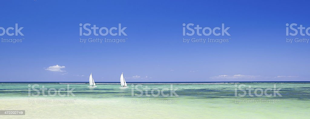 Idyllic island stock photo