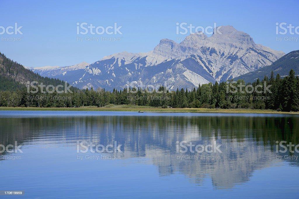 Idyllic Lake Hideaway stock photo