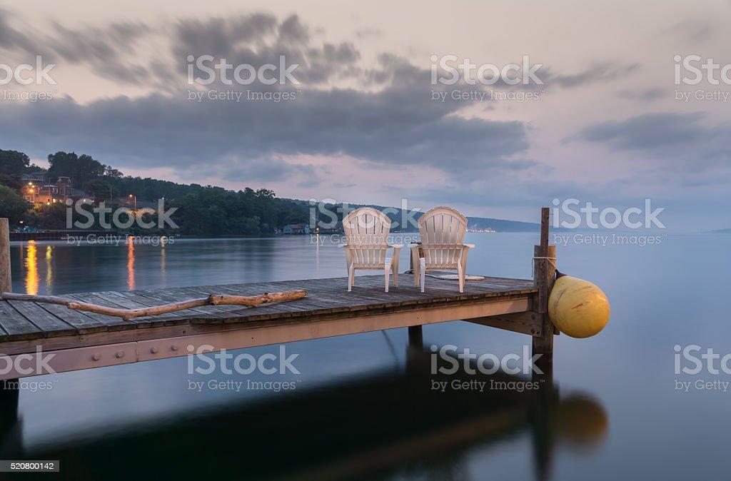 Idyllic Lake Seneca stock photo