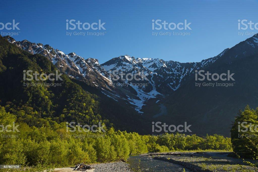 idyllic landscape of Japan stock photo