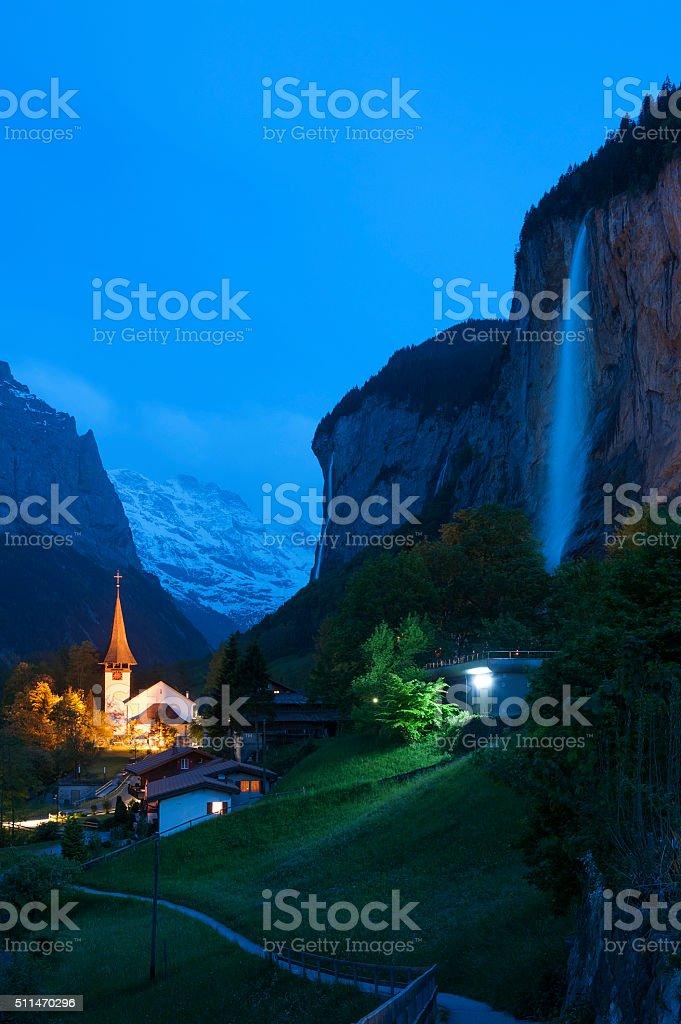 Idyllic landscape of Swiss stock photo