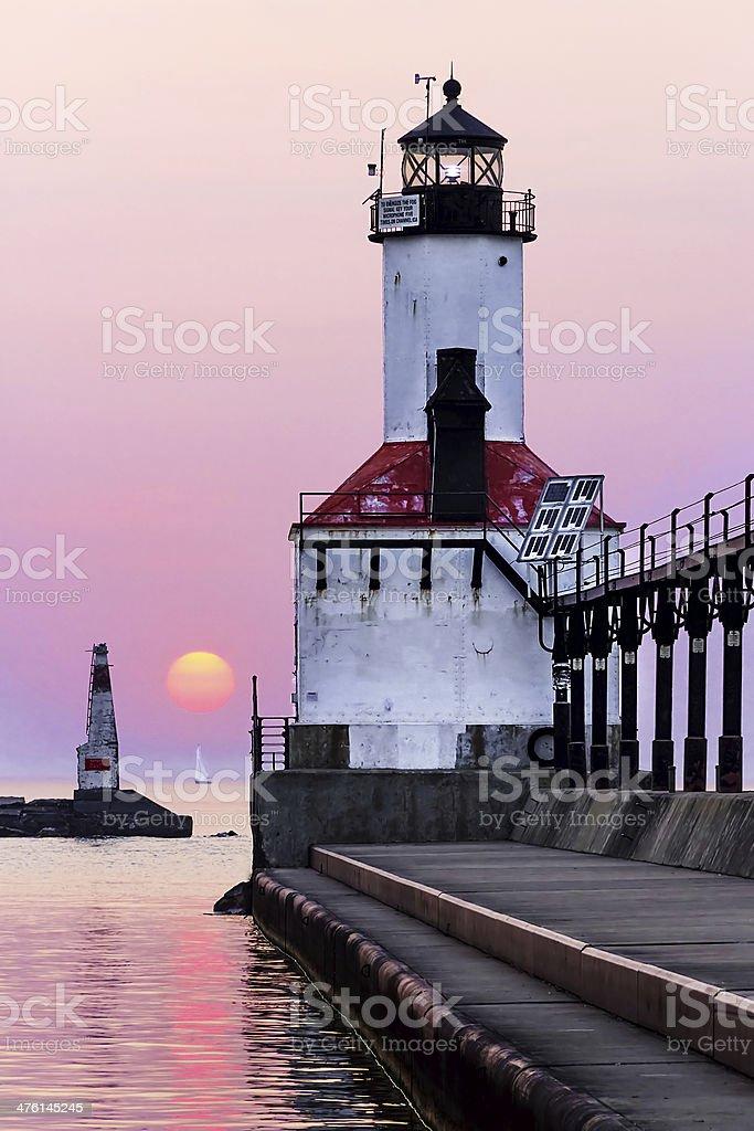Idillio Faro tramonto foto stock royalty-free